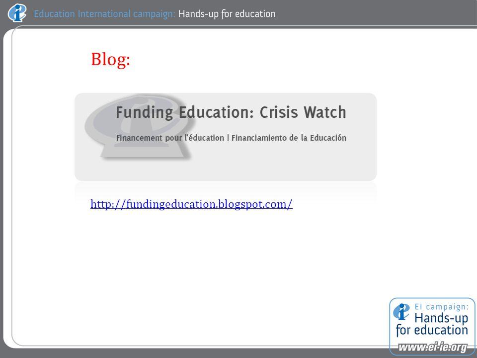http://fundingeducation.blogspot.com/ Blog: