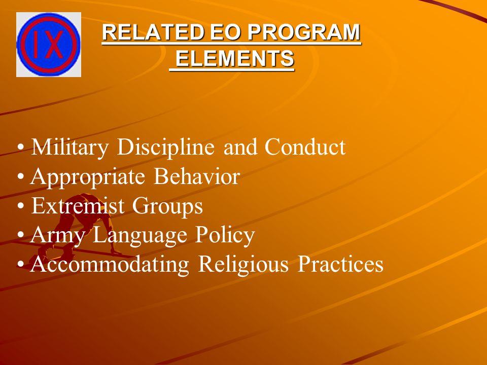 TRAINING AND EDUCATION Training required twice annually Training Materials - Films/Videos - DA Pam 350-20 - TC 26-6 - AR 600-20/UR 600-21 - AR 350-1/UR 350-1