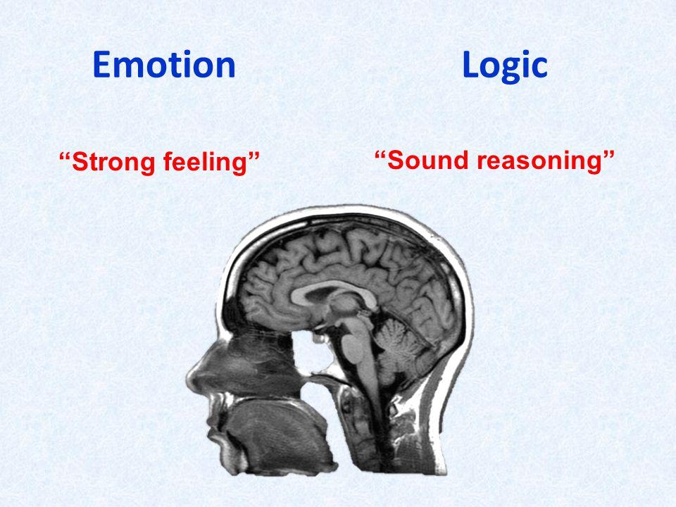 Emotion Logic Strong feeling Sound reasoning