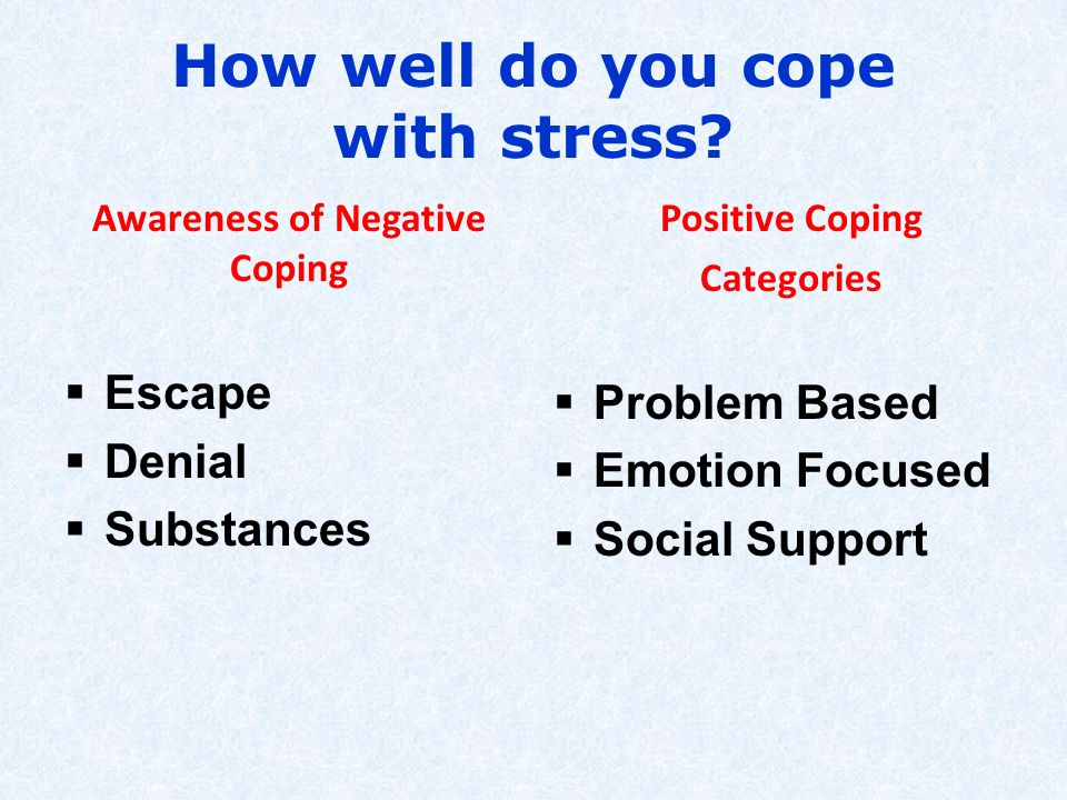 How well do you cope with stress.