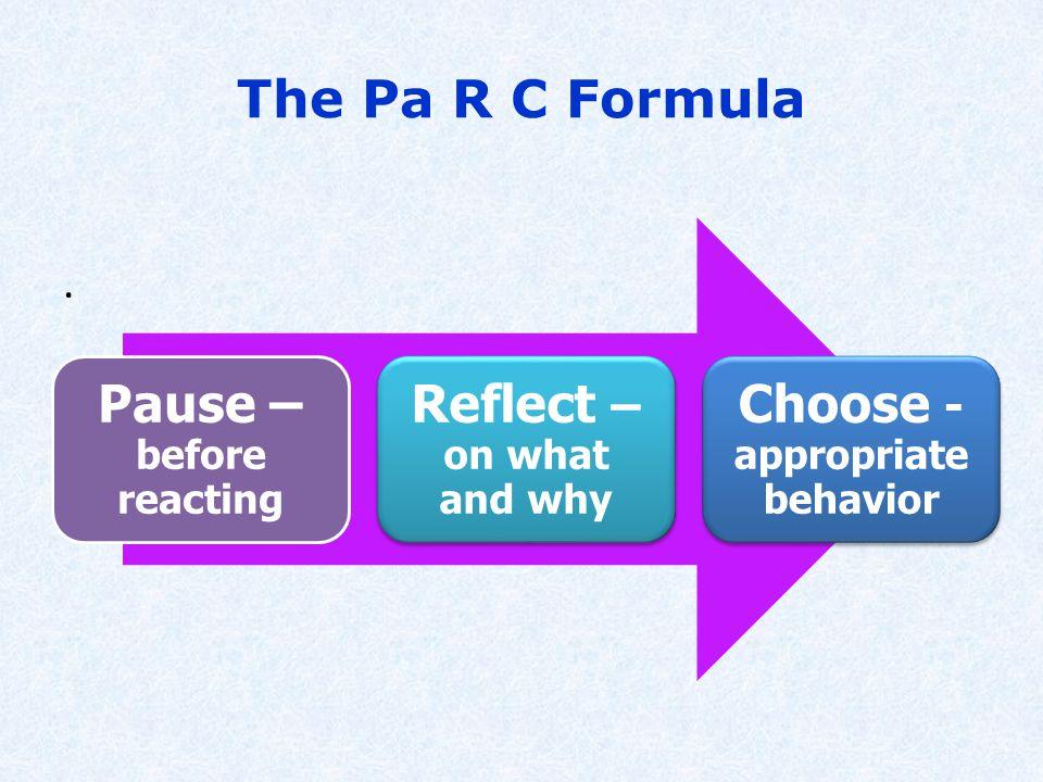 The Pa R C Formula.