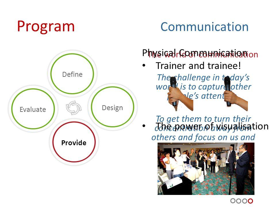 Program Progress and evaluation