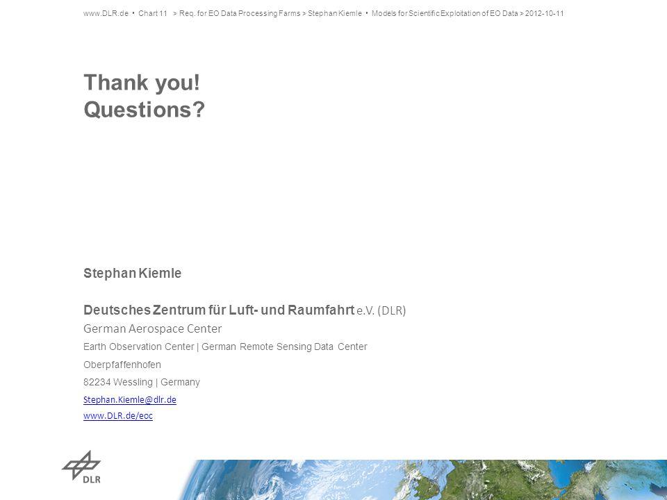 Thank you. Questions. Stephan Kiemle Deutsches Zentrum für Luft- und Raumfahrt e.V.
