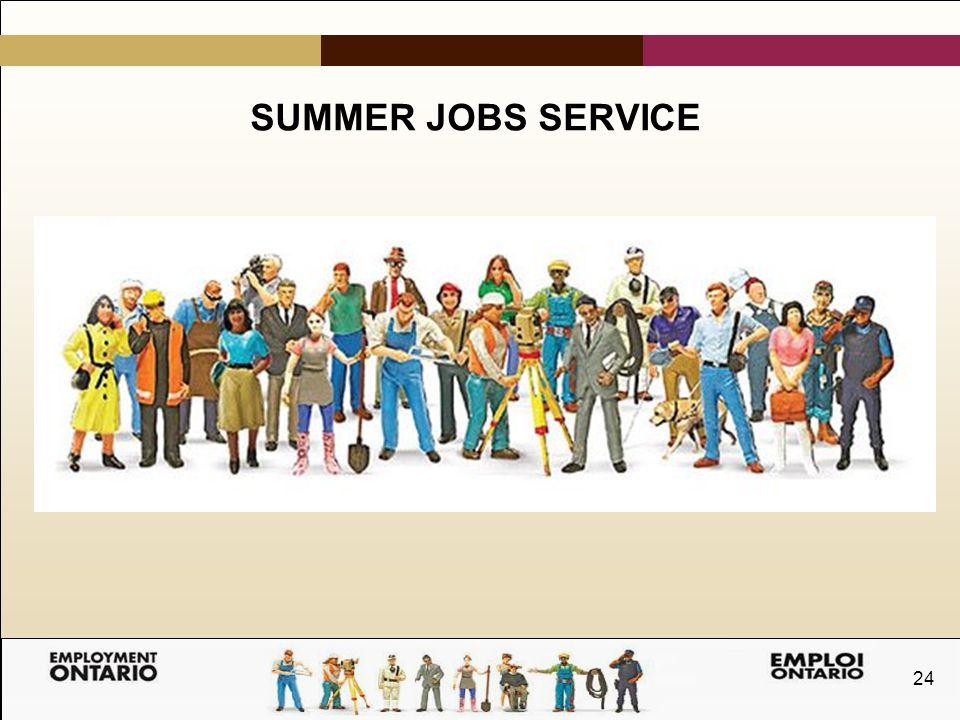 24 SUMMER JOBS SERVICE