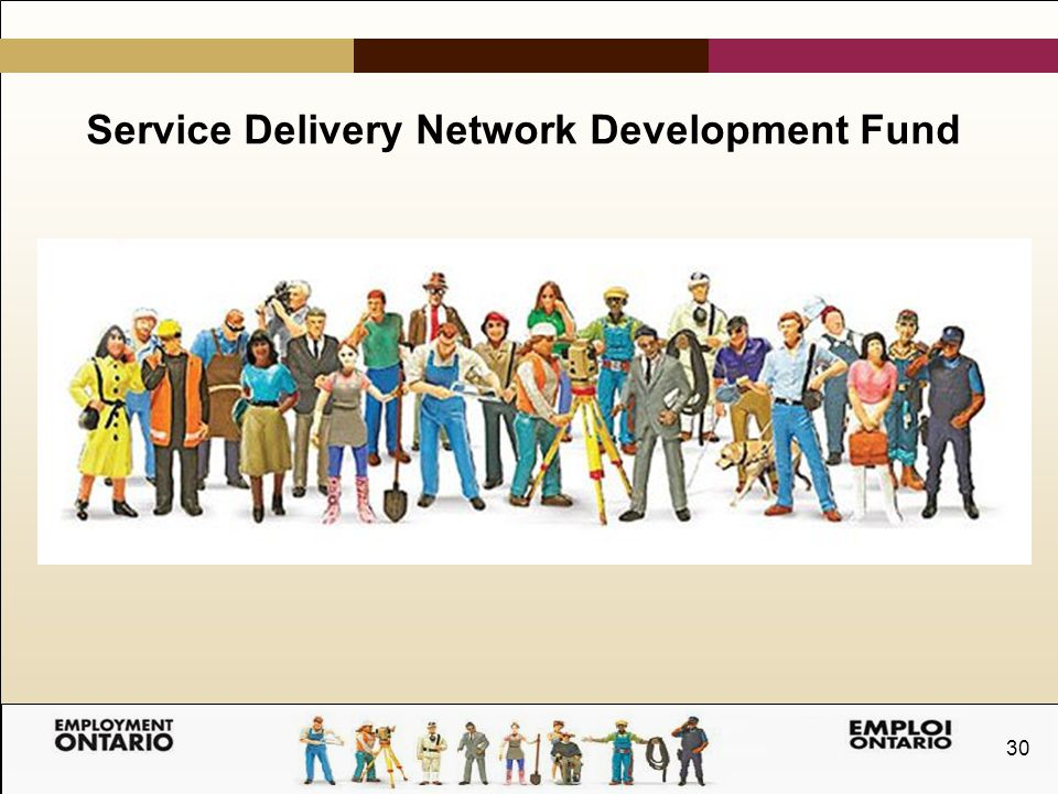 30 Service Delivery Network Development Fund
