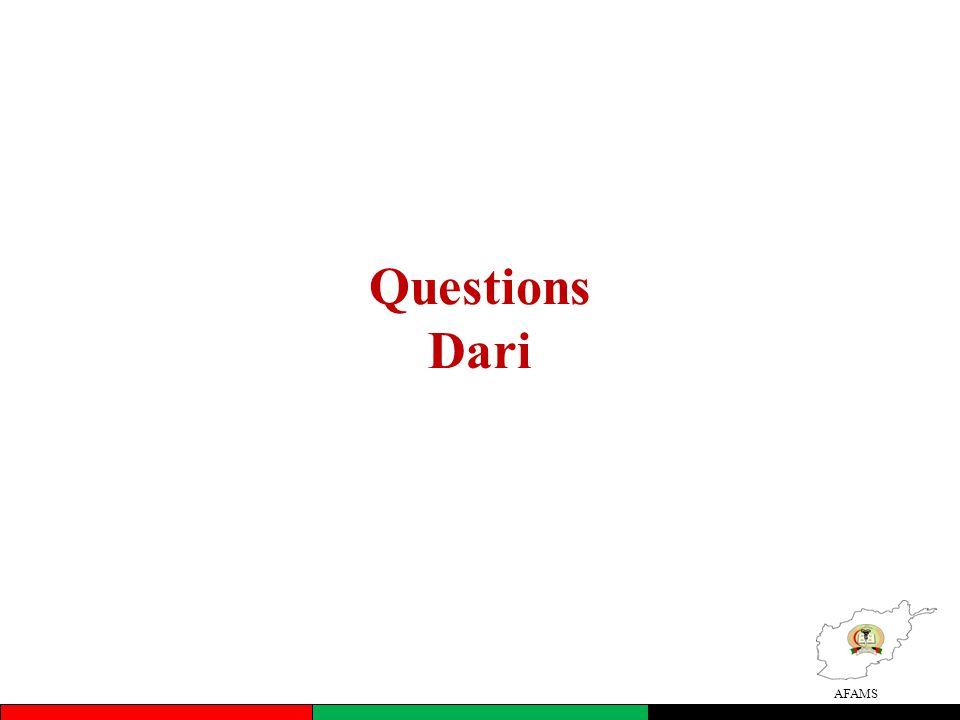 AFAMS Questions Dari