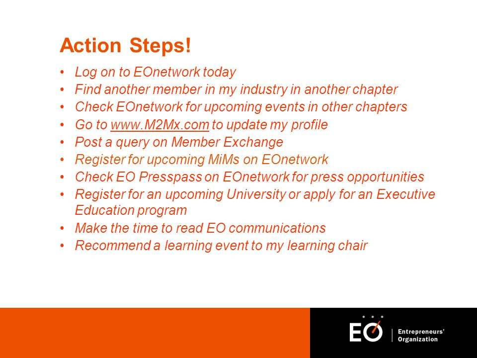 Action Steps.