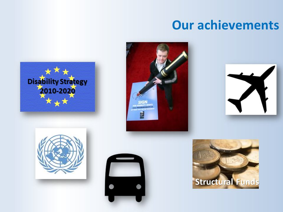 Our achievements Disability Strategy 2010-2020 Structural Funds
