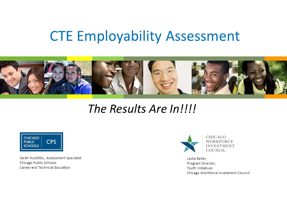 CTE Employability Assessment The Results Are In!!!.