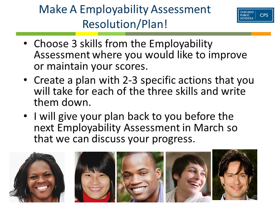 Make A Employability Assessment Resolution/Plan.