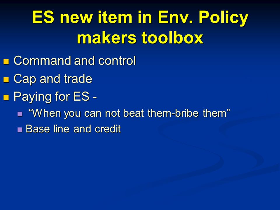 ES new item in Env.