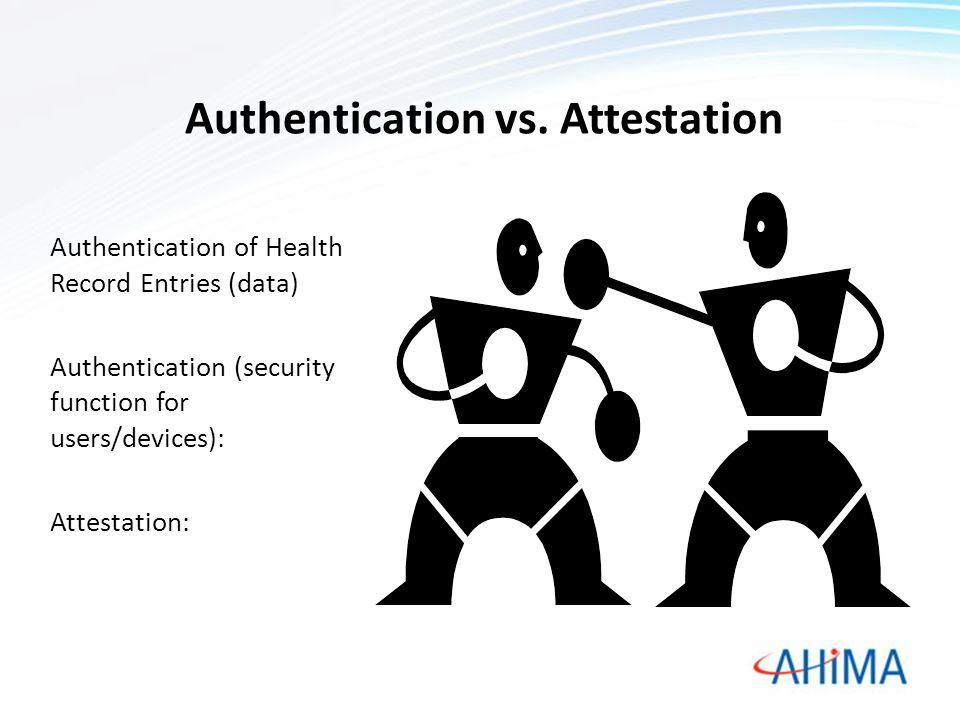 Authentication vs.