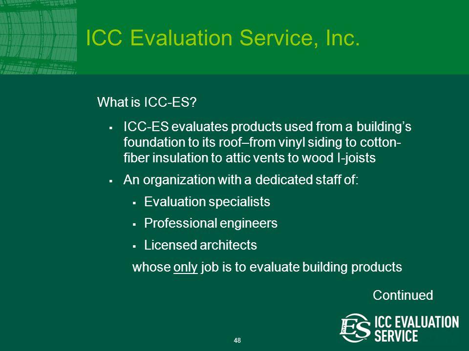 48 What is ICC-ES.