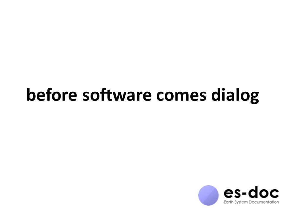 before software comes dialog