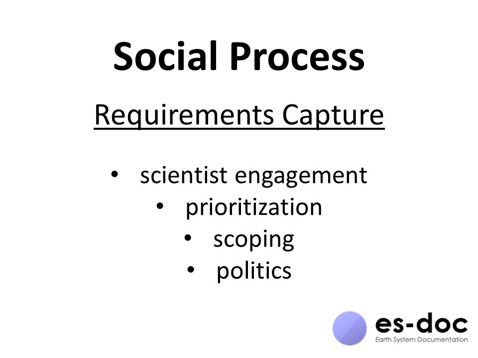 Social Process Requirements Capture scientist engagement prioritization scoping politics
