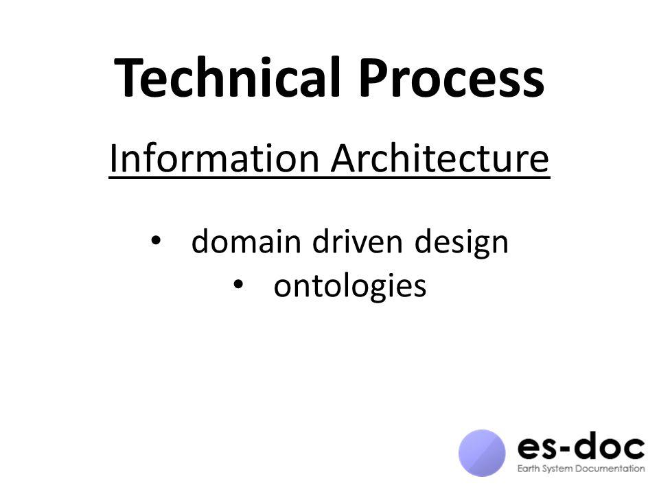 Technical Process Information Architecture domain driven design ontologies