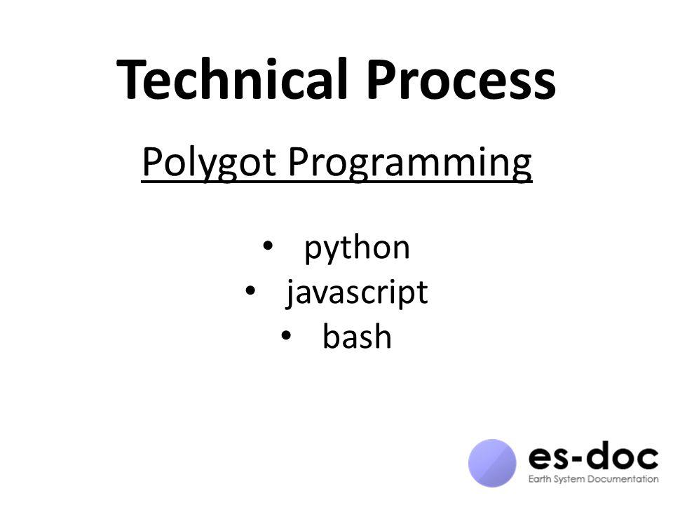 Technical Process Polygot Programming python javascript bash