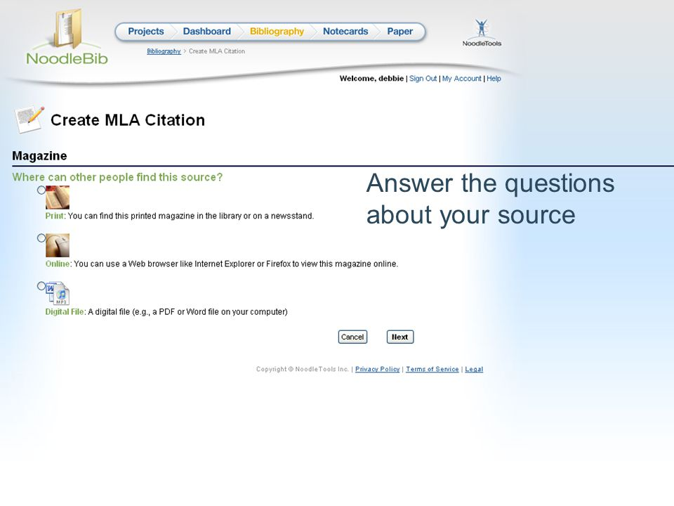 Answer the questions about your source