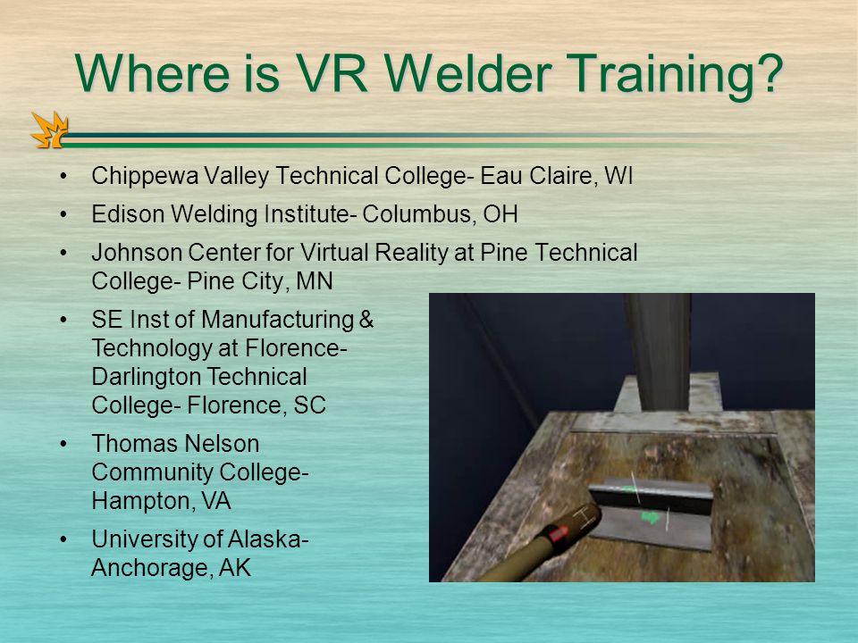 Where is VR Welder Training.
