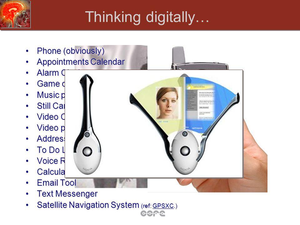 Thinking digitally