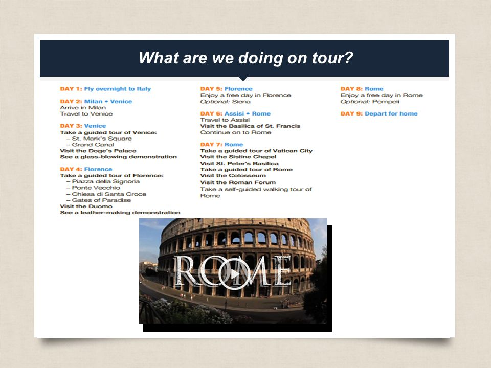 eftours.com What are we doing on tour