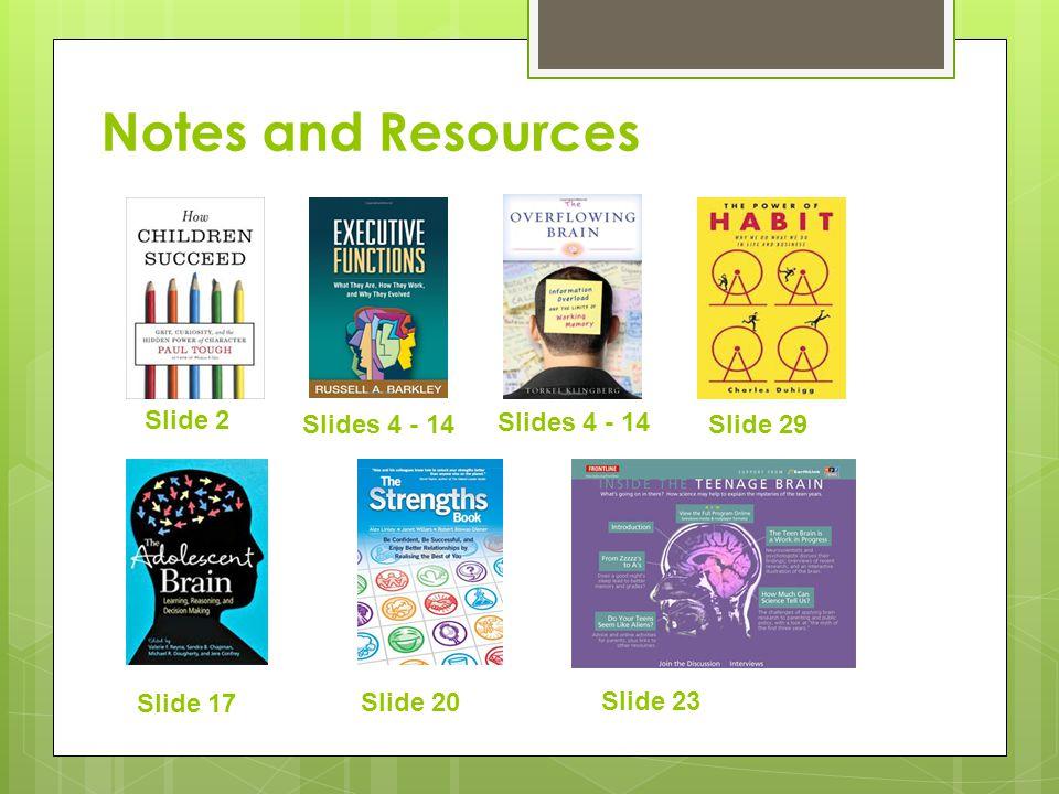 Slide 2 Notes and Resources Slides 4 - 14 Slide 29 Slide 17 Slide 20 Slide 23 Slides 4 - 14