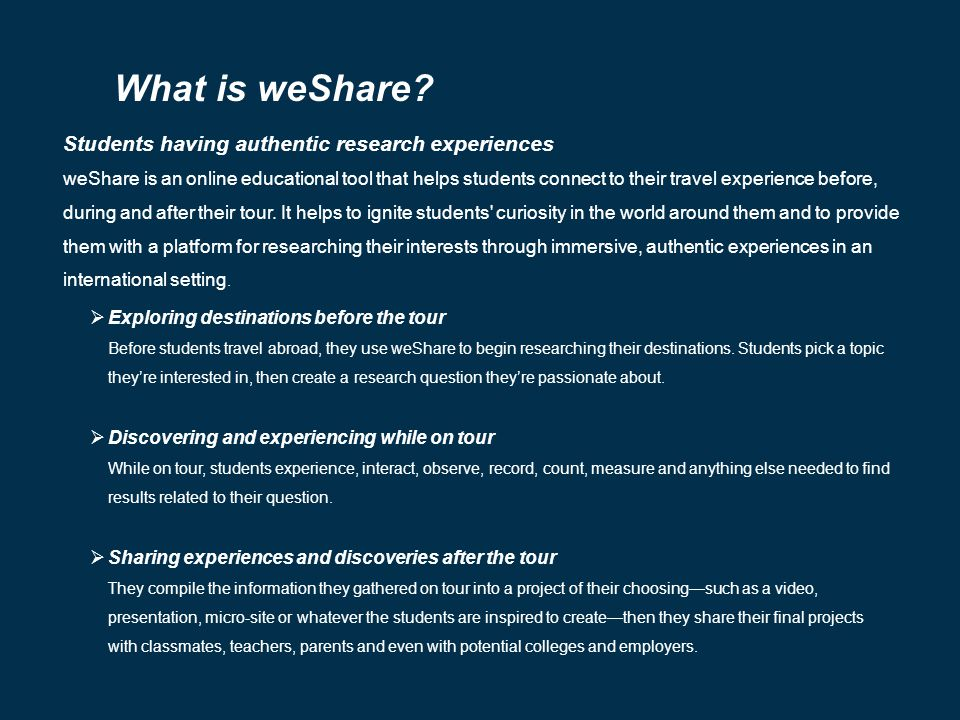 What is weShare.