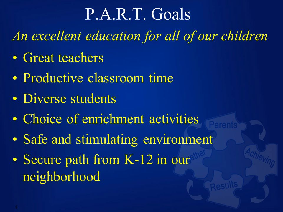15 Goal: Secure Path K-12 Have excellent local public schools all the way from Kindergarten through High School Graduation.
