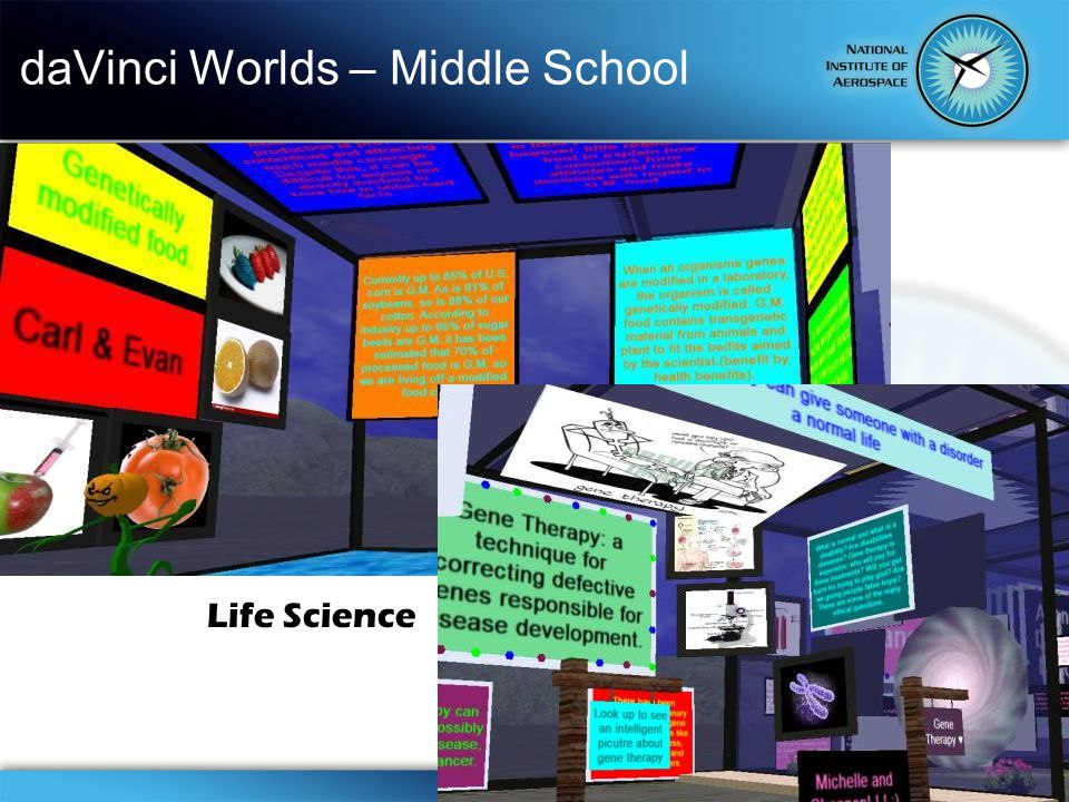 daVinci Worlds – Middle School Life Science