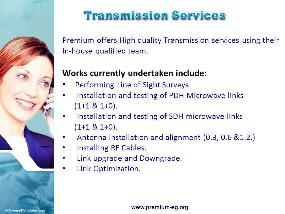 Premium offers High quality Transmission services using their In-house qualified team.