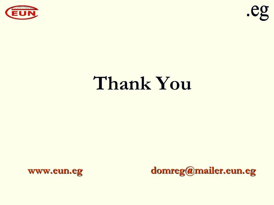 Thank You www.eun.eg domreg@mailer.eun.eg