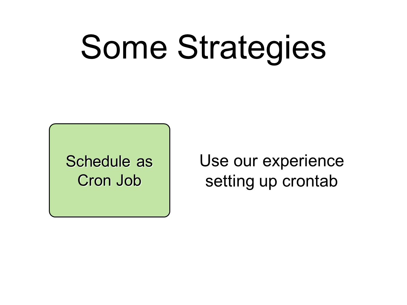 Some Strategies Schedule as Cron Job Use our experience setting up crontab