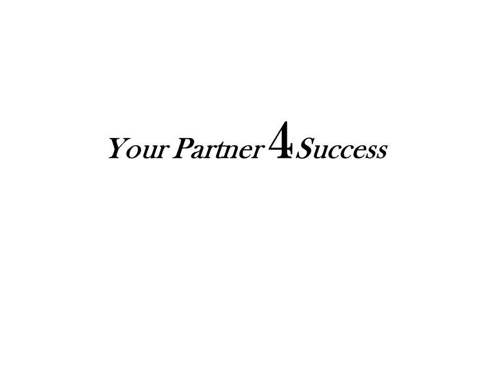 Your Partner 4 Success