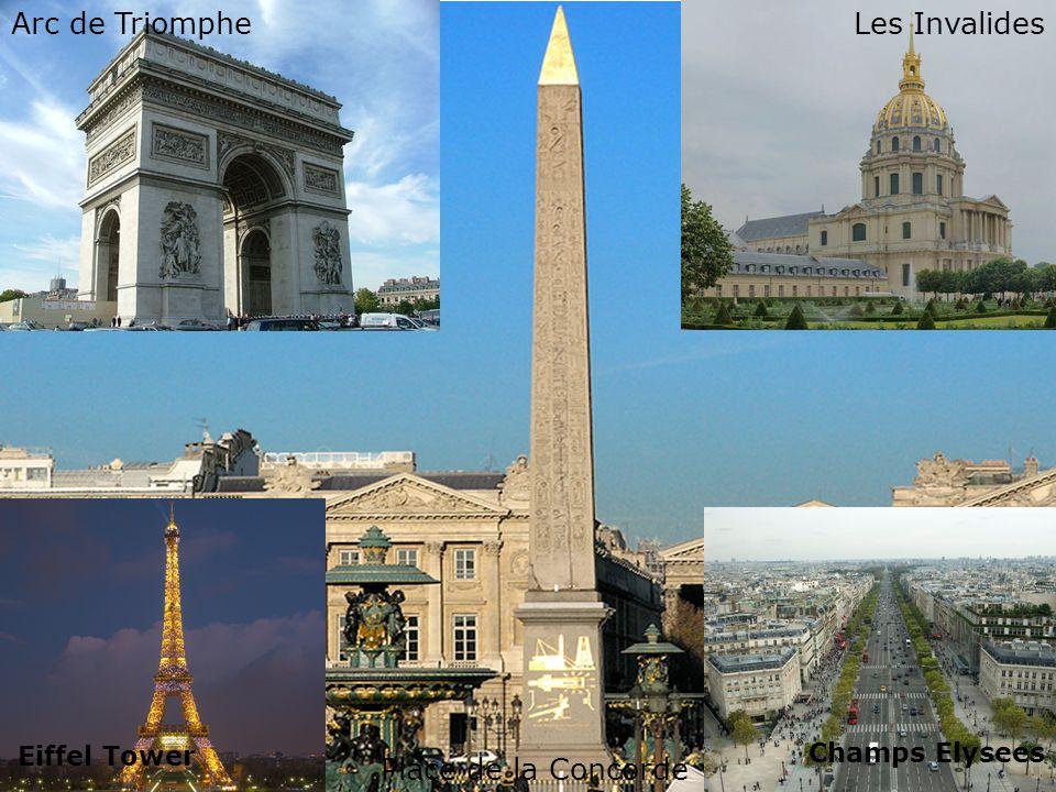 Day 5 – Guided Tour of Paris Sistine Chapel Forum Romanum Pantheon Arc de TriompheLes Invalides Place de la Concorde Eiffel Tower Champs Elysees