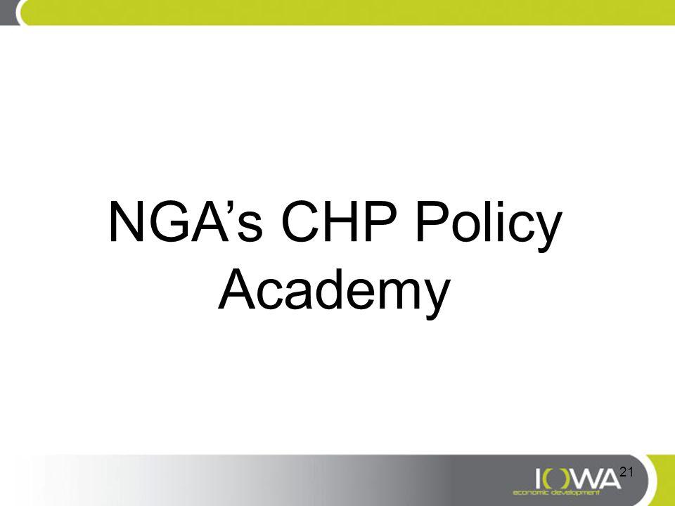 NGA's CHP Policy Academy 21