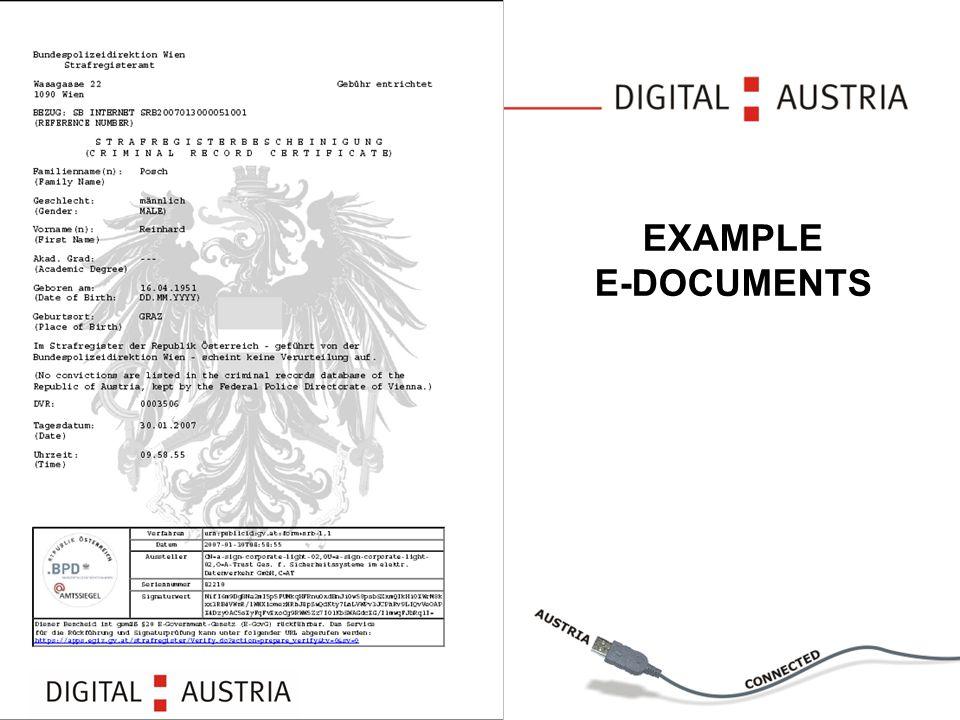 EXAMPLE E-DOCUMENTS