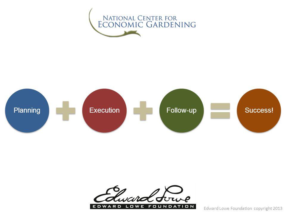 PlanningExecutionFollow-upSuccess! Edward Lowe Foundation copyright 2013