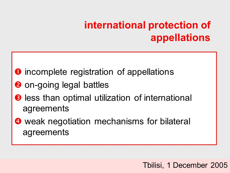 appellations.yes but...... concrete issues to tackle .