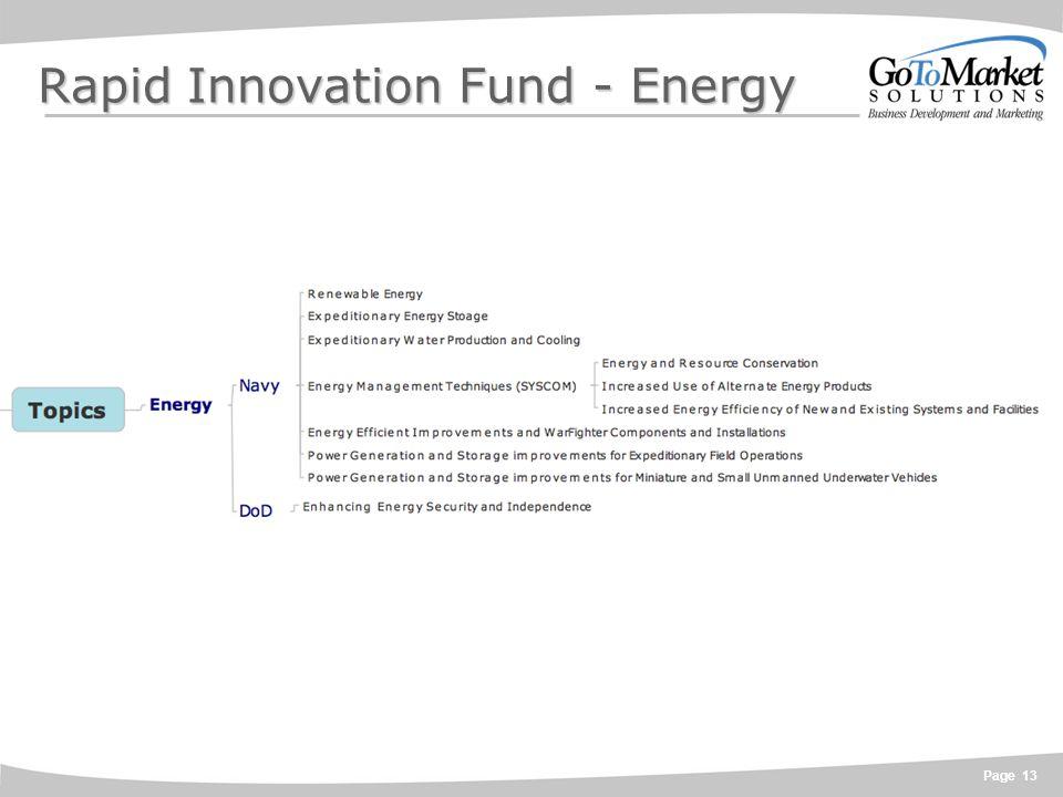 Page 13 Rapid Innovation Fund - Energy