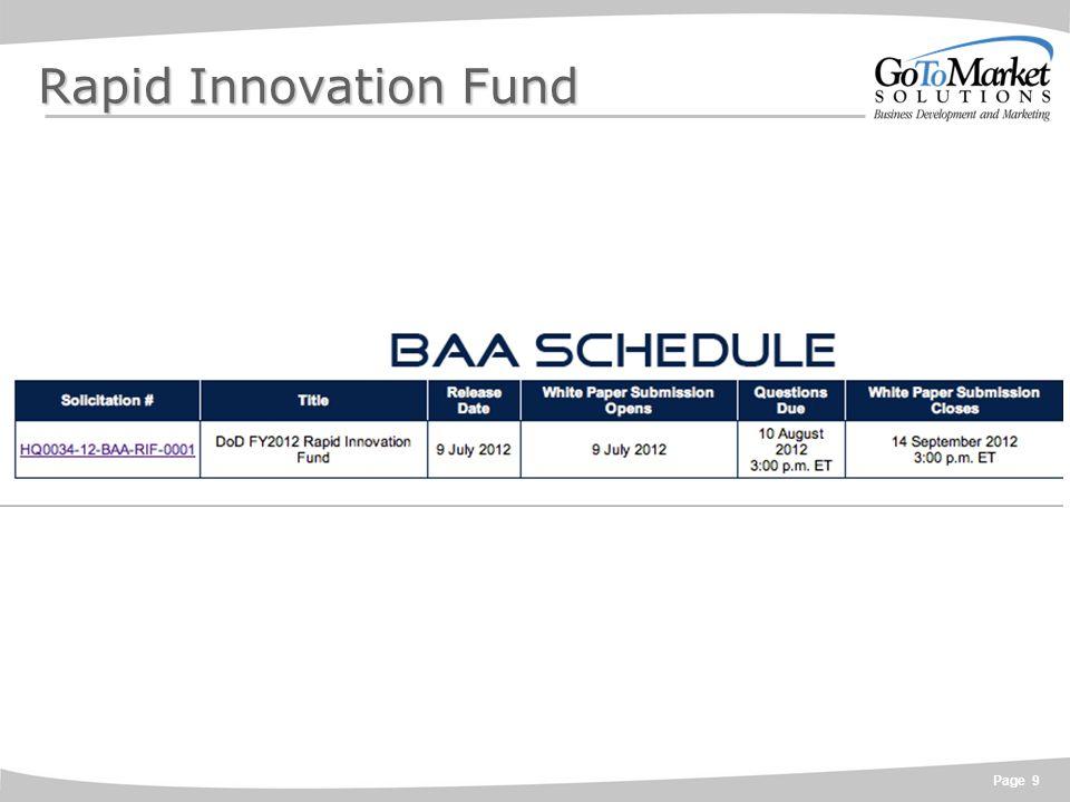 Page 9 Rapid Innovation Fund