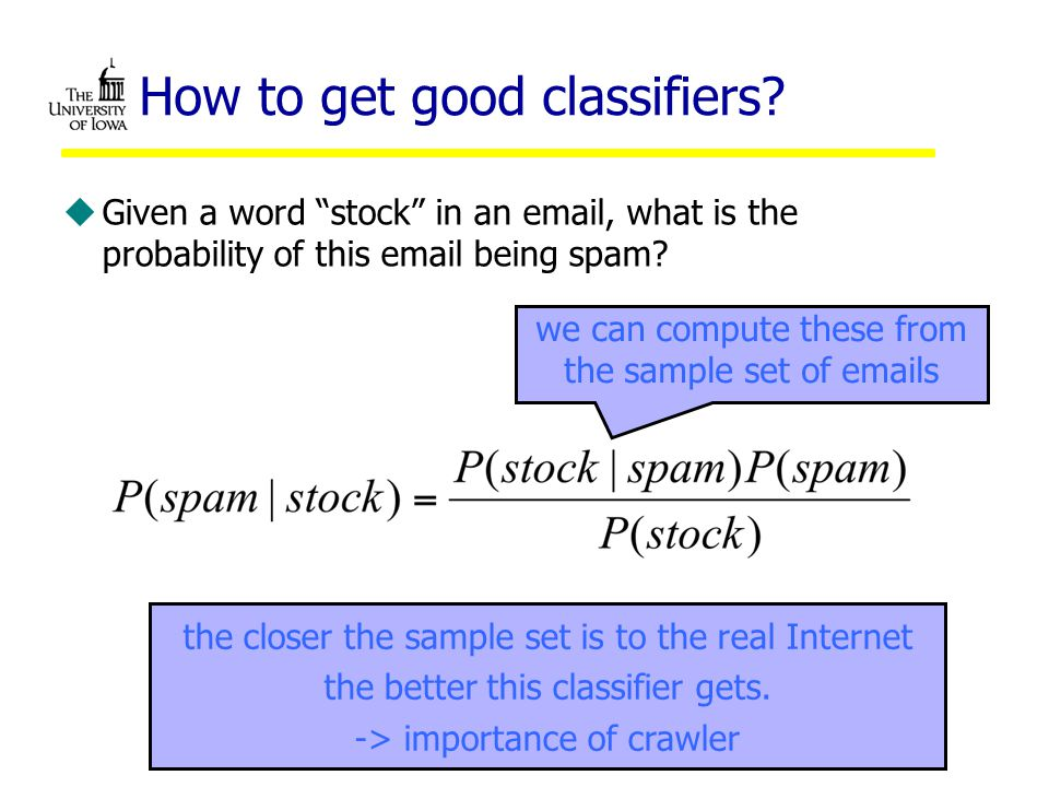 How to get good classifiers.