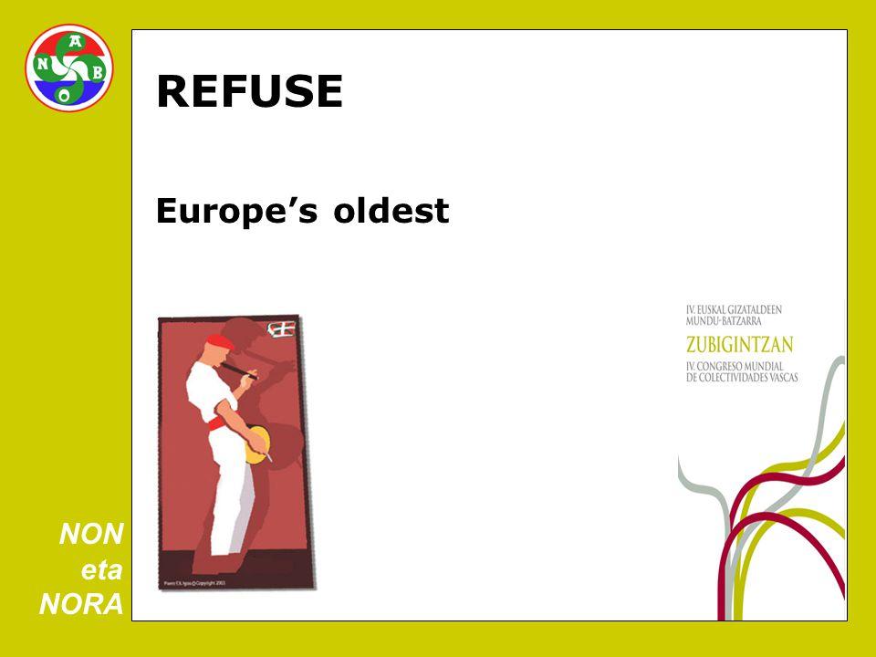 REFUSE Europe's oldest NON eta NORA