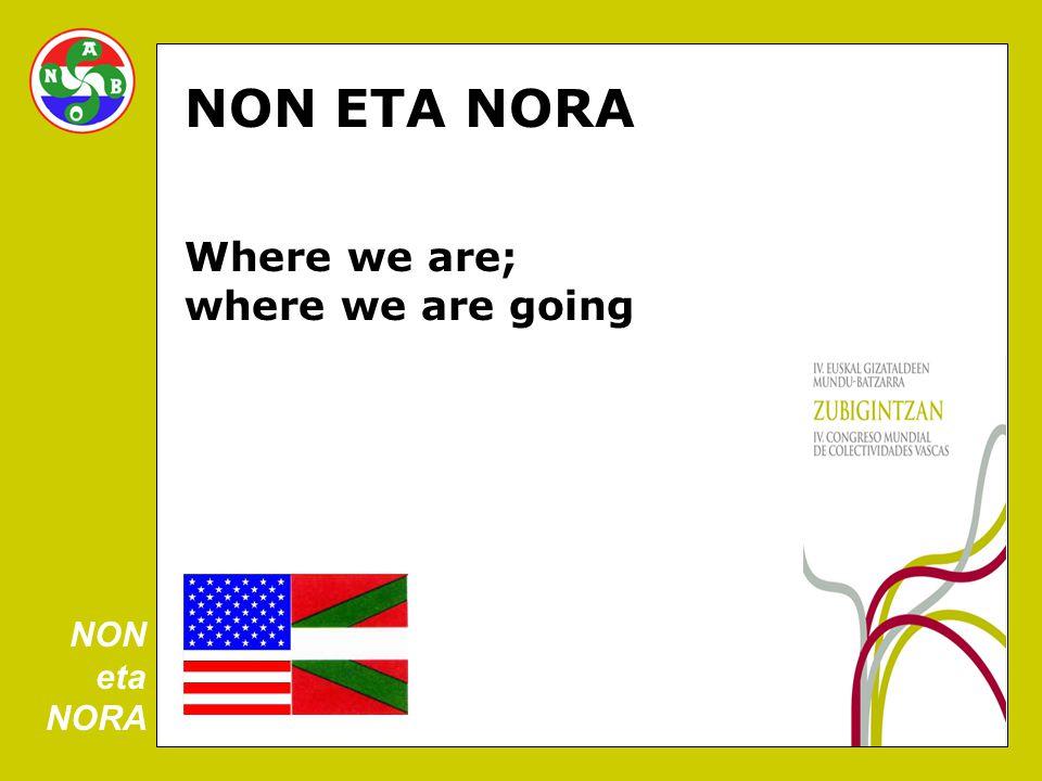 NON ETA NORA Where we are; where we are going NON eta NORA