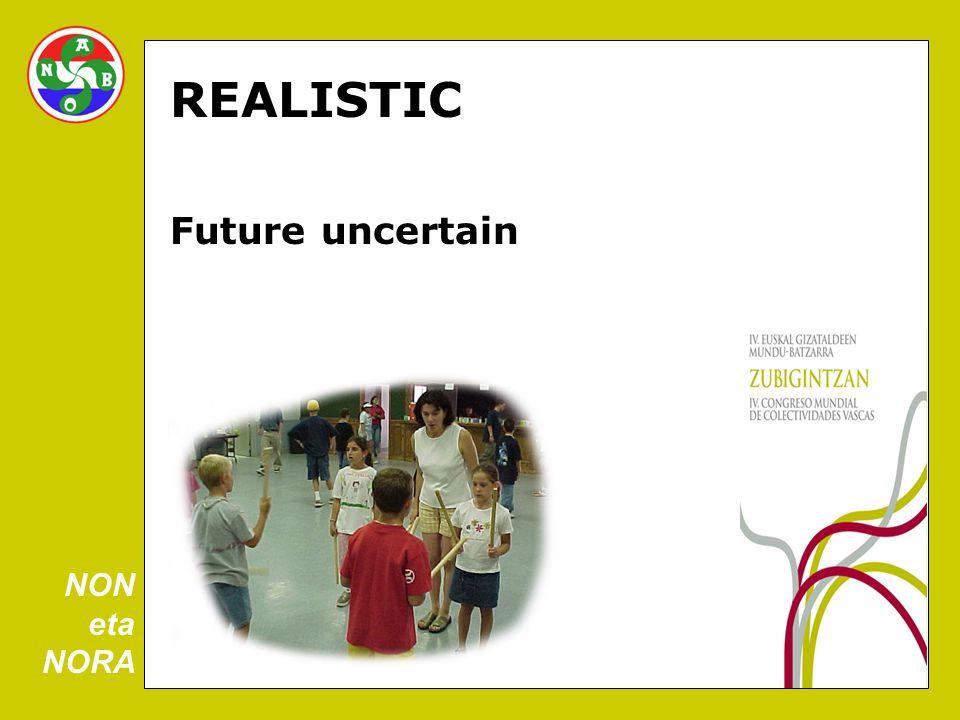 REALISTIC Future uncertain NON eta NORA