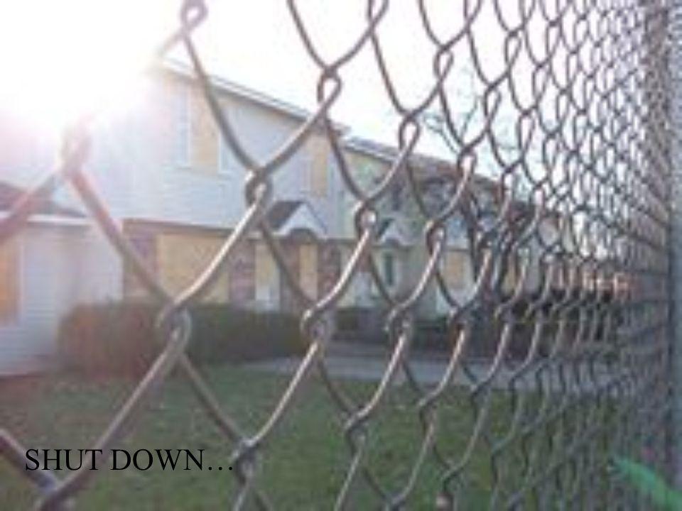 SHUT DOWN…