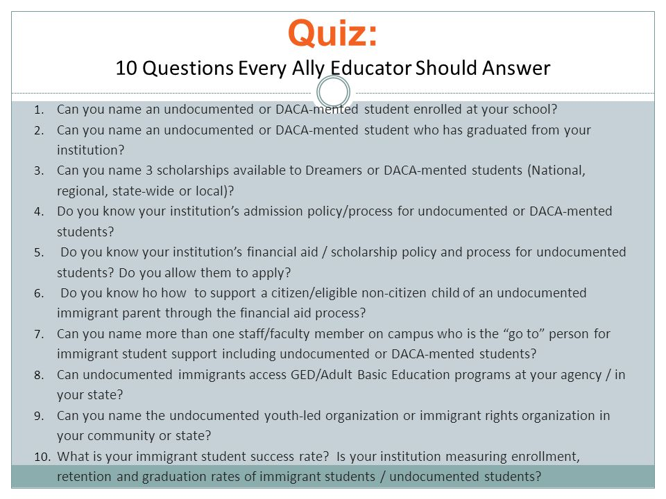 Transition: DACA Resources Comparison of Benefits and Rights based on immigration status: http://e4fc.org/images/E4FC_Benefits ComparisonChart.pdf http://e4fc.org/images/E4FC_Benefits ComparisonChart.pdf Health Care for DACA grantees-NILC (PDF) http://www.nilc.org/acadacafaq.html http://www.nilc.org/acadacafaq.html Got DACA, now what.
