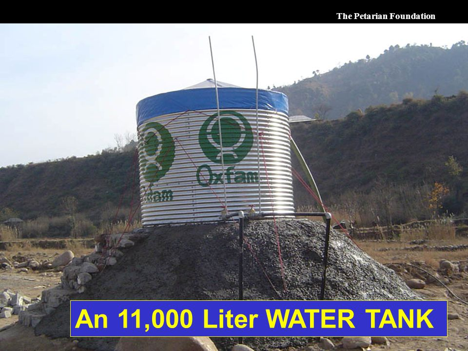 The Petarian Foundation An 11,000 Liter WATER TANK