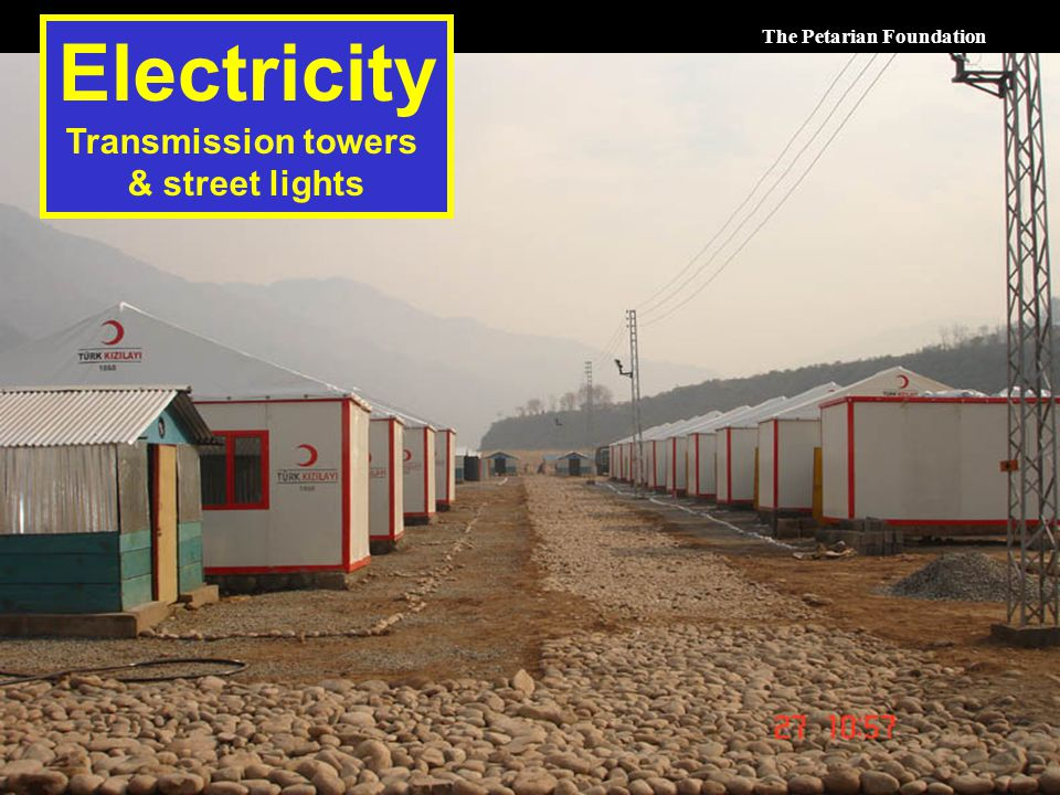 The Petarian Foundation Electricity Transmission towers & street lights