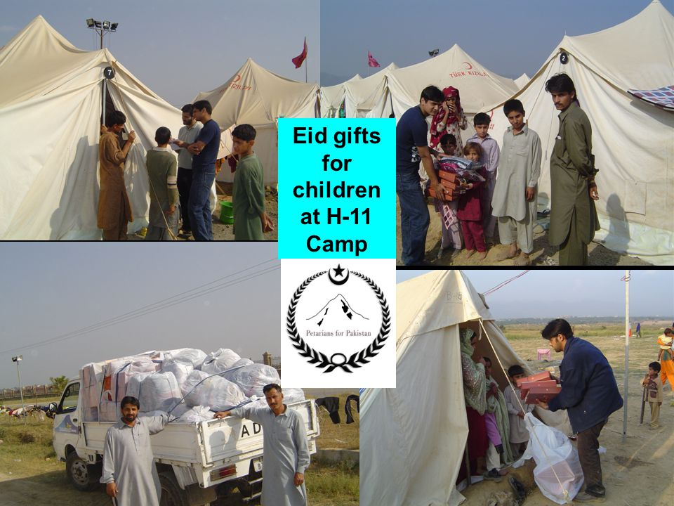 The Petarian Foundation Eid gifts for children at H-11 Camp