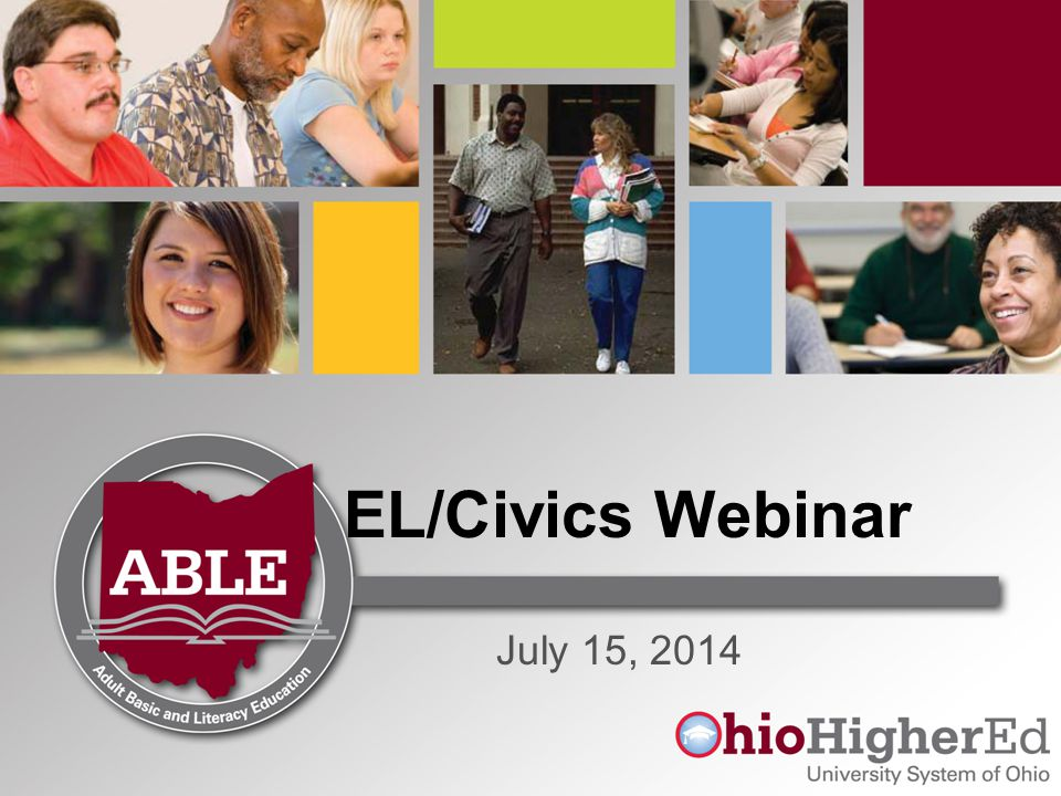 EL/Civics Webinar July 15, 2014